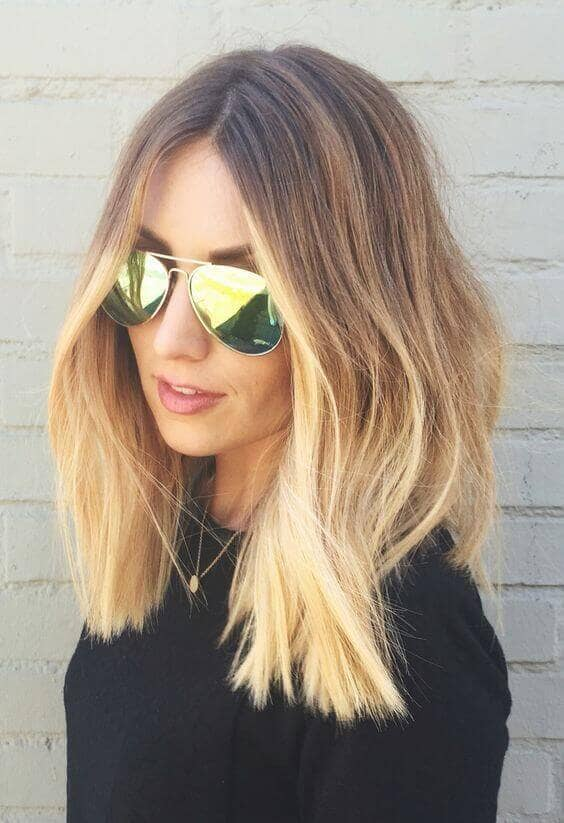 Textured strawberry blonde ombre