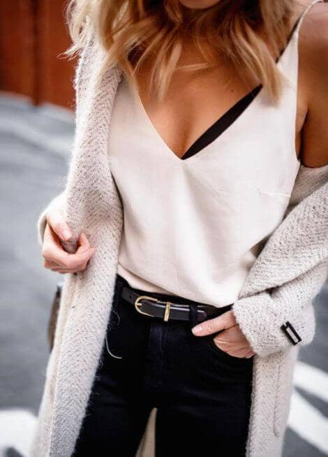 Look Edgy with a Soft Cardi