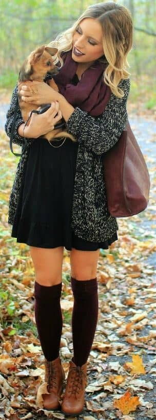 Knee Highs and Lace Up Boots
