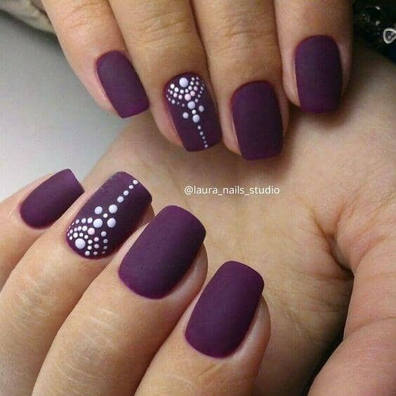 Nail Art on Fall Colors
