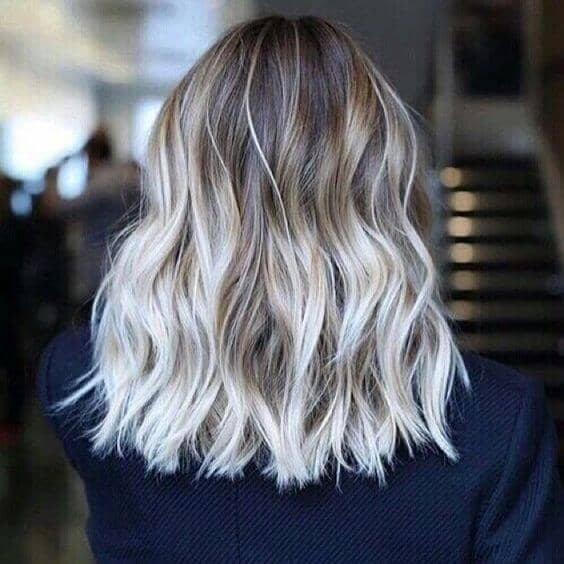 Nothing but White Hot Ombre Hair
