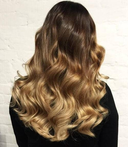 Bouncy and Voluminous Warm Ombre Curls