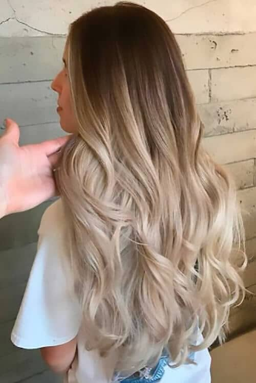 Beautiful Cascading Blonde Ombre Curls