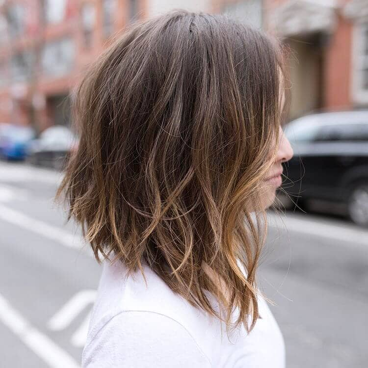 Angled Lob: the Modern Mid Length Haircut