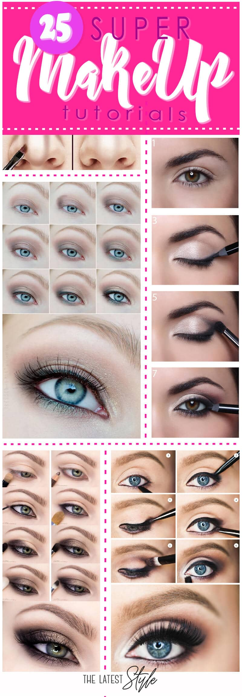 25 Super MakeUp Tutorials
