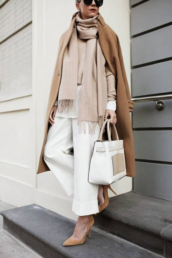 White and Light Brown Juxtapose