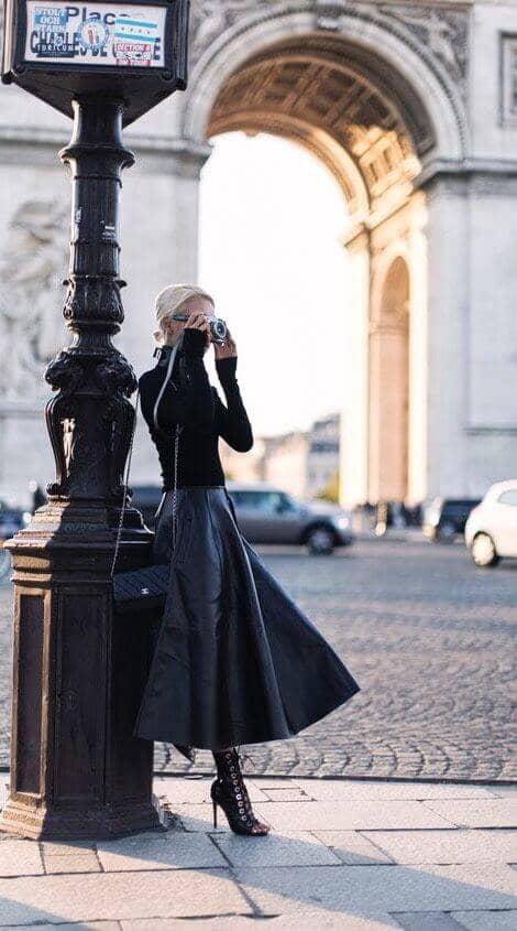 Parisian Chic Leather Maxi