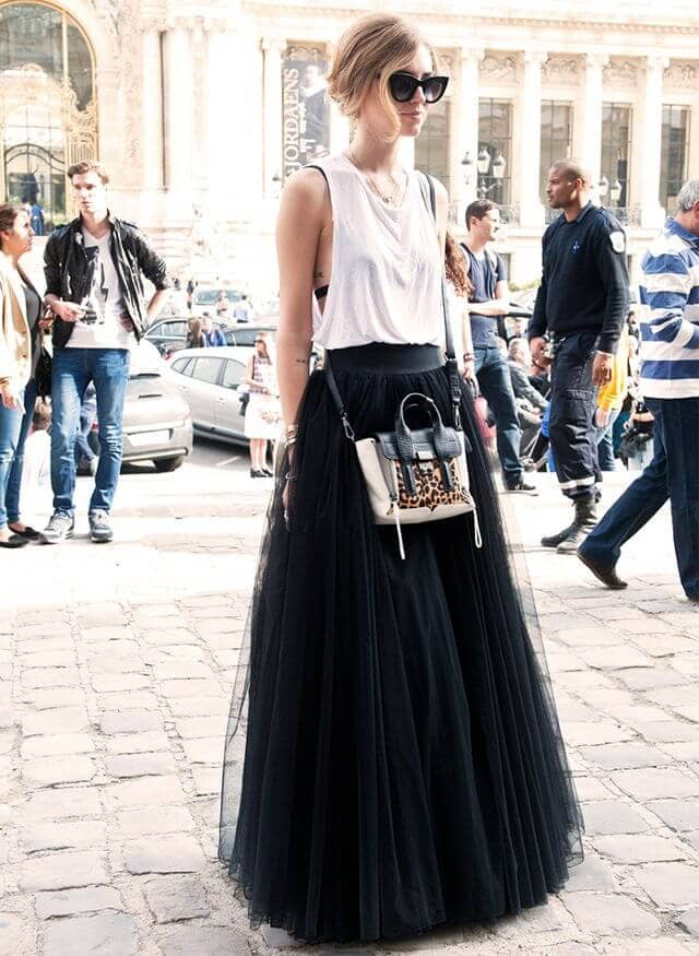 Be an Off-Duty Celeb in Black Tulle