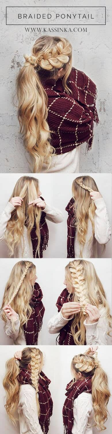 Braided Ponytail For Long Hair