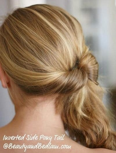 Inverted Side Ponytail For Special Occasions