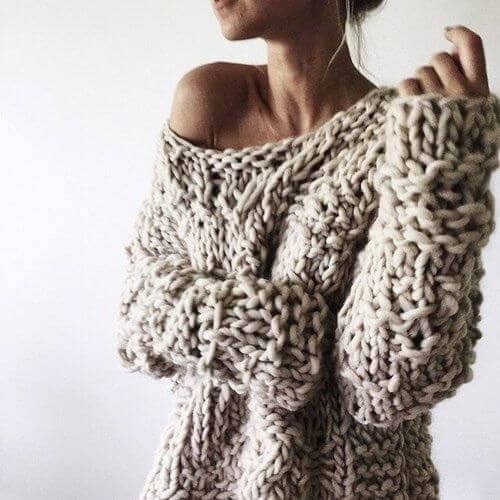 The Stay Home Chunky Knit Sweater