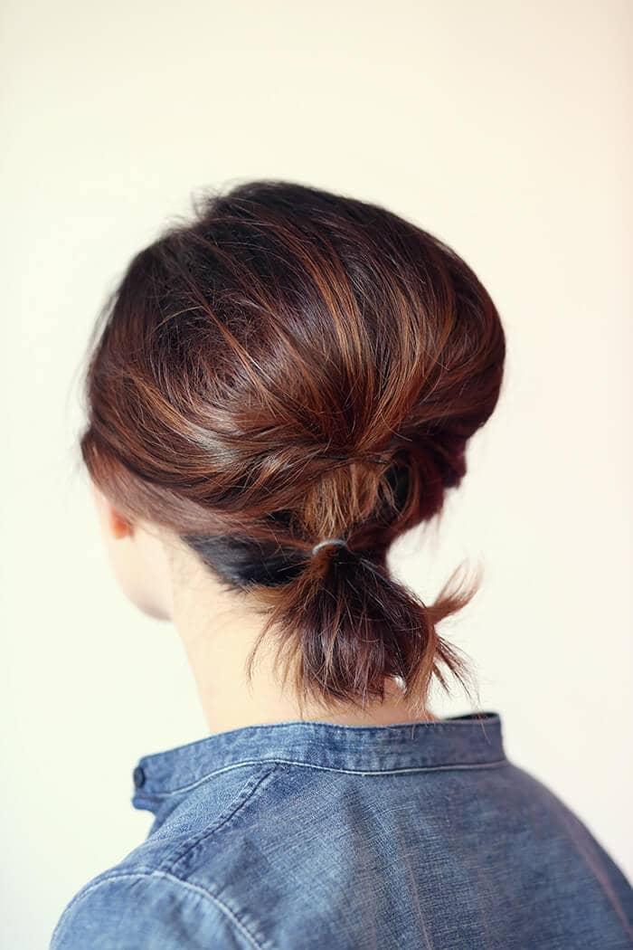 Volumized Ponytail For Short Hair