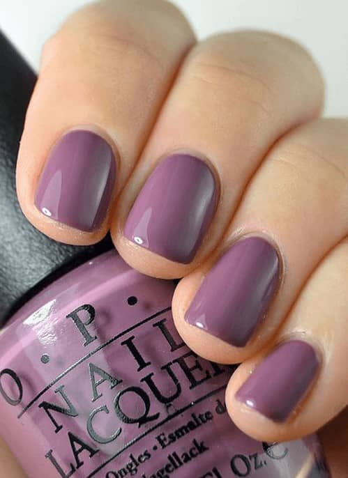 Muted Purple Nail Design