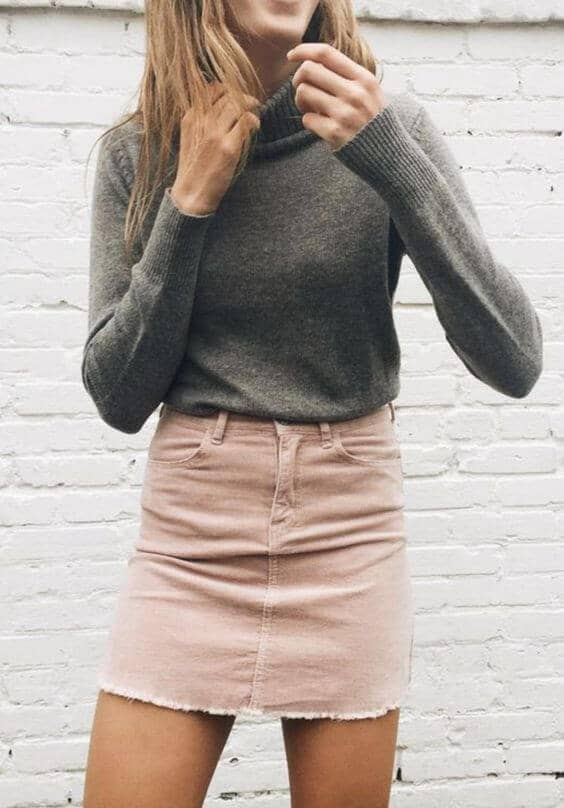Simple in Gray and Beige Denim