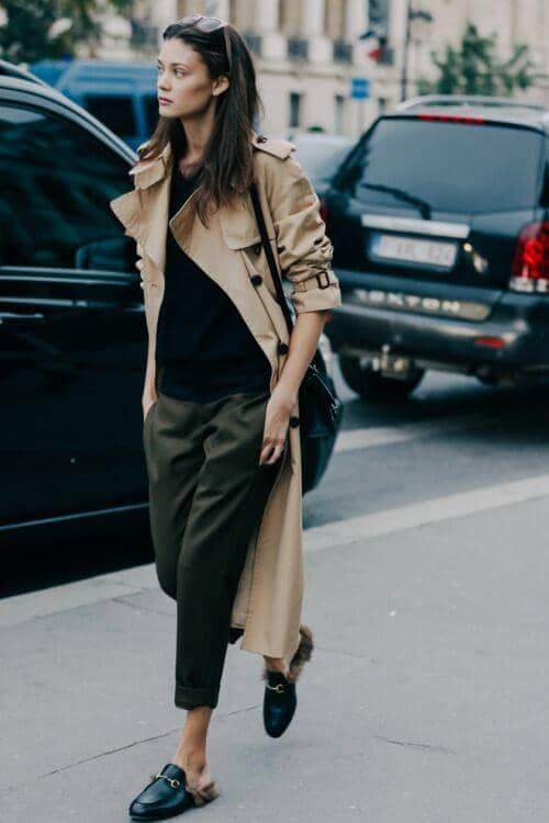 A Trenchcoat Completes The Look