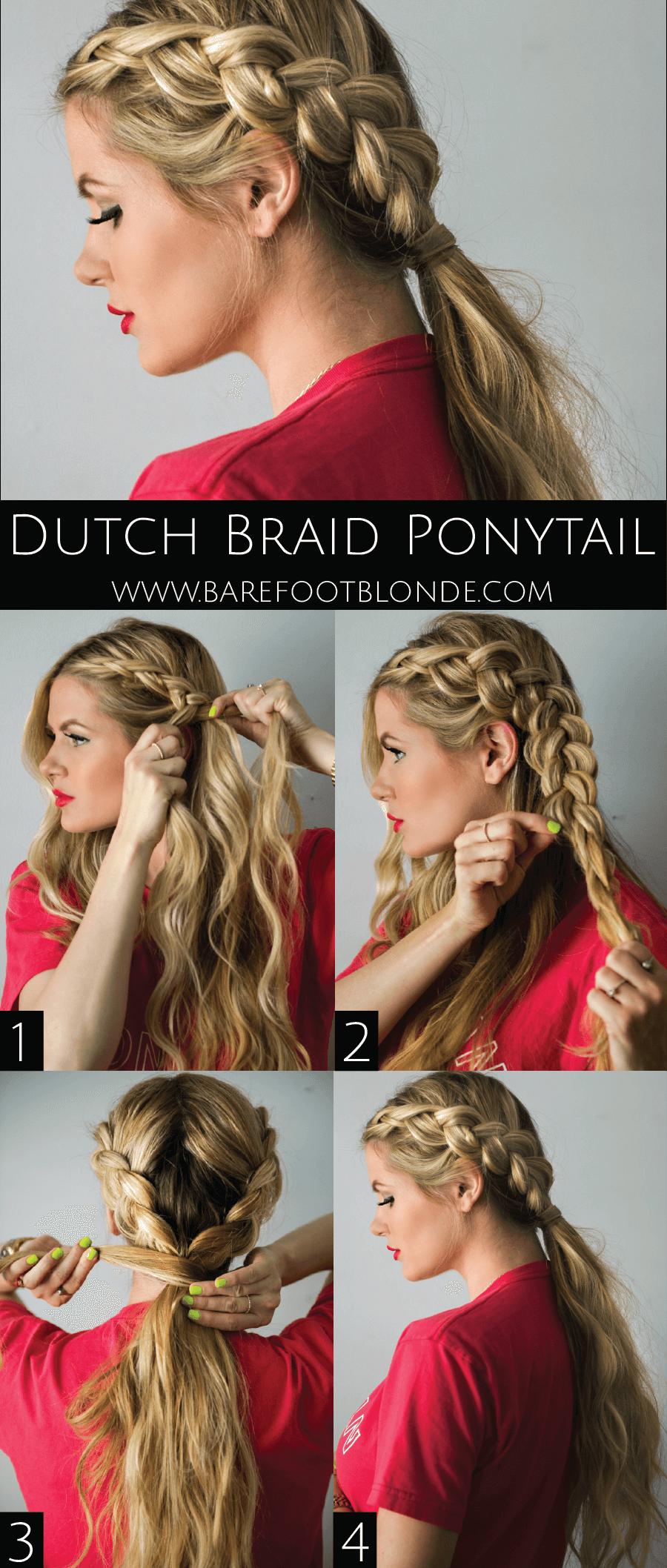 Double Dutch Braid Ponytail Idea