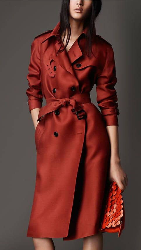 Bold Colored Trenchcoats For Fall