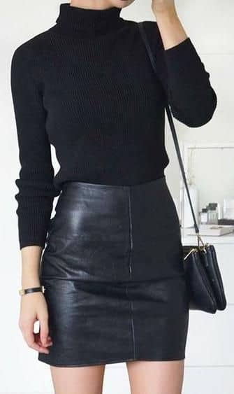 The Perfect Distressed Black Skirt