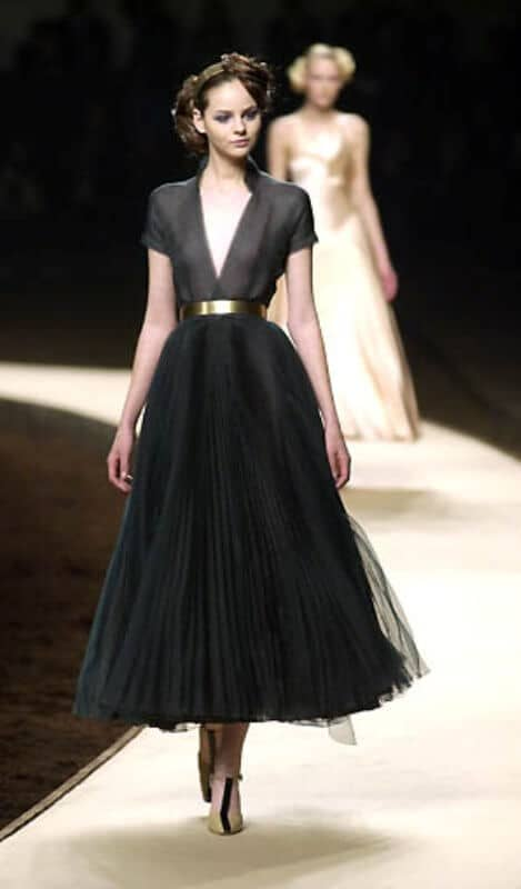 Plunging and Pleated Statement Gown