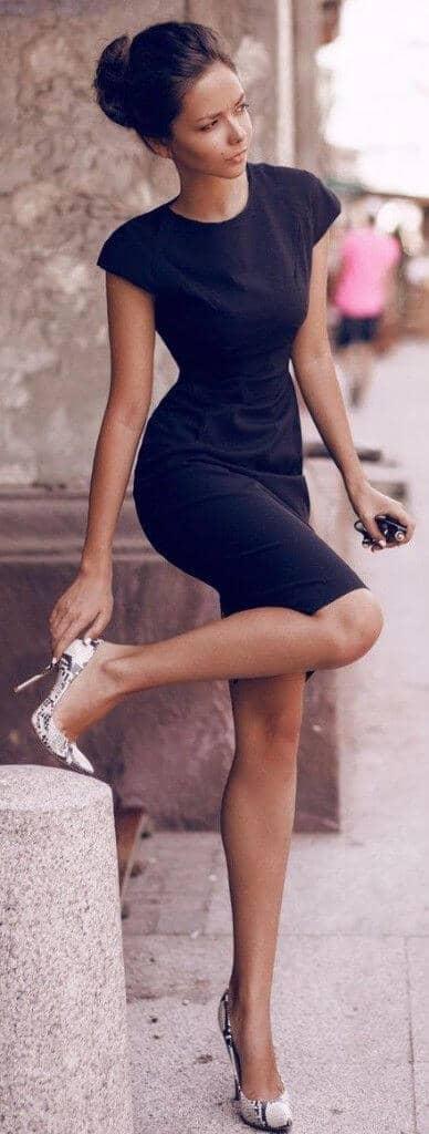 Basic Black Victoria Beckham Style