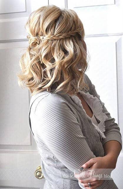 Wedding Braid Hairstyle for Short Hair