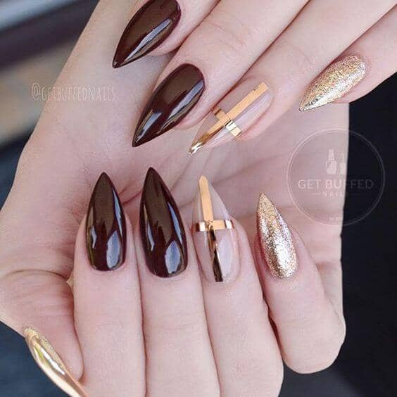 Metallic Claw Nails