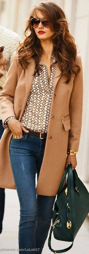 Gold Jewelry and Camel Coats