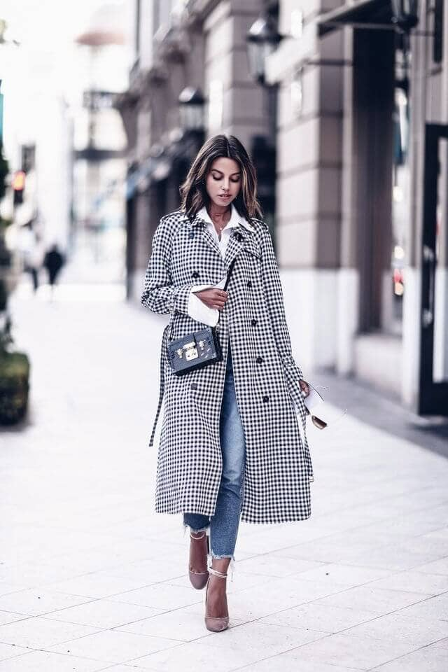 Styling Patterned Trenchcoats