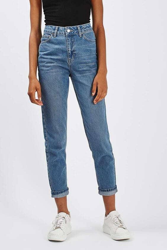 Boyfriend Jeans And White Kicks