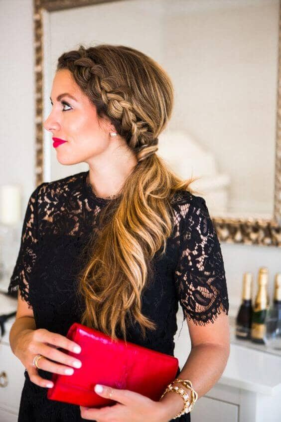 Braided Side Ponytail For Special Occasions