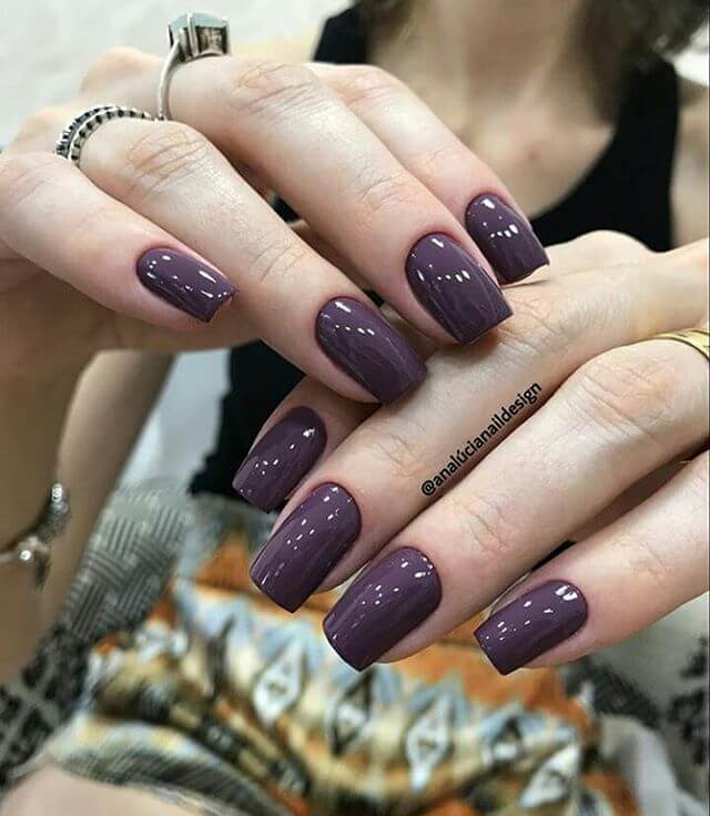 Rich and Regal Purple Nails