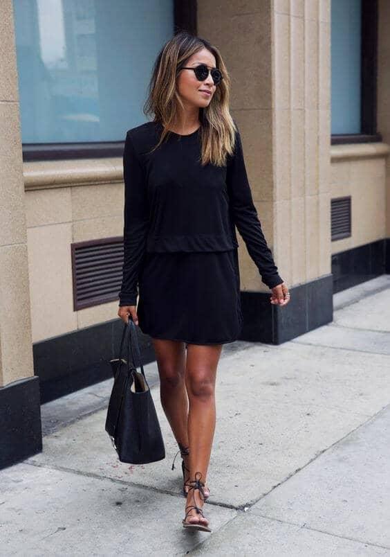 Easy, Breezy Black Shirt Dress