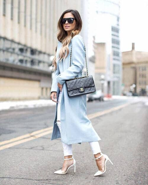 Soft, Pastel Winter Trenchcoat Look
