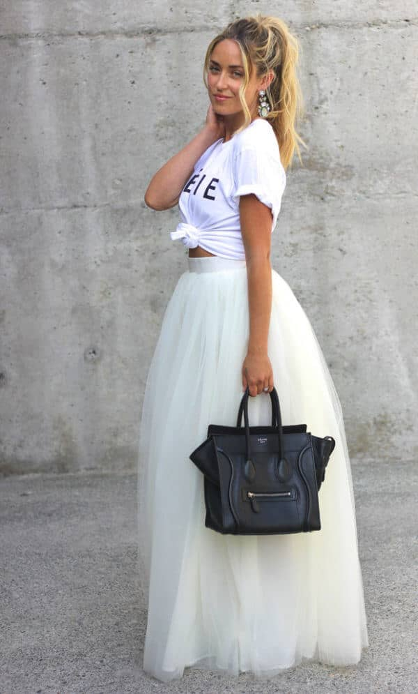 A Tulle Skirt Outfit Perfect for Summer