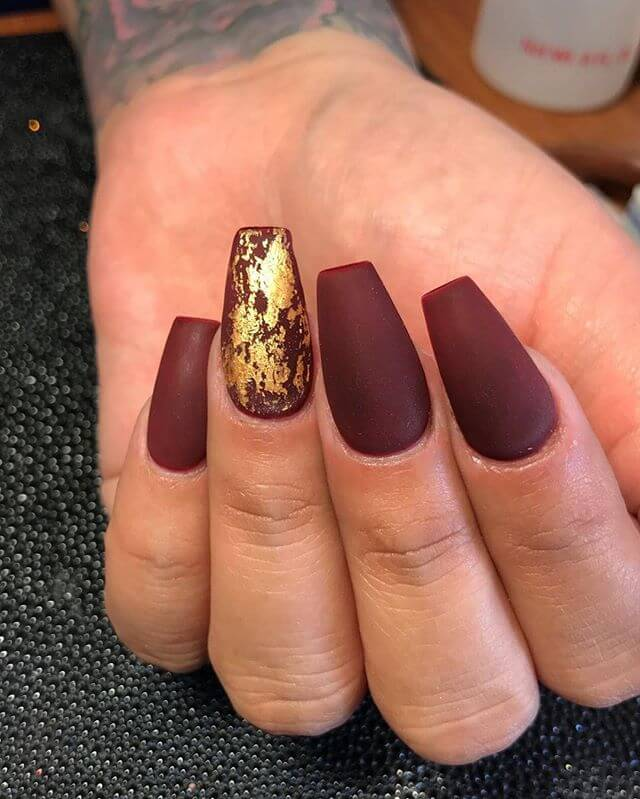 Sultry Matte Cabernet and Gold