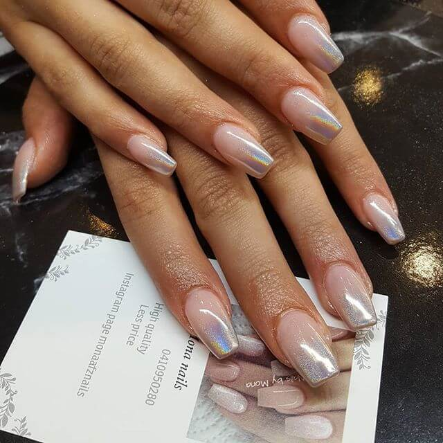 Kaleidoscope Chrome-Tipped Ombre
