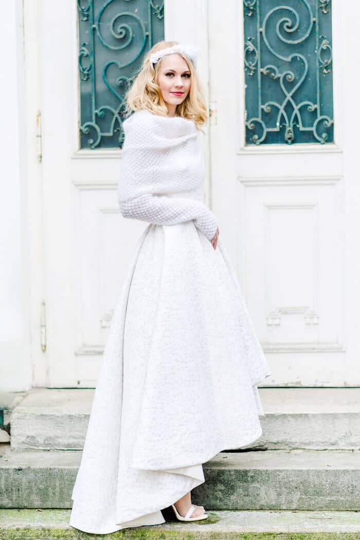 Simply and Cozy Winter Wedding Dresses