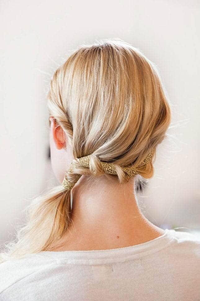 Woven Ribbon Side Braid