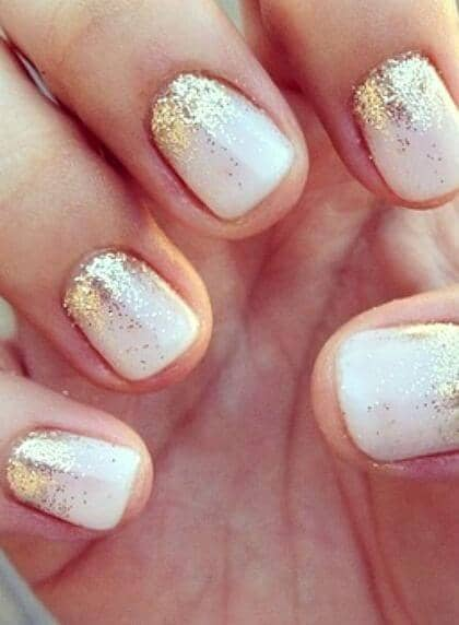 Frosty White With Ombre Gold
