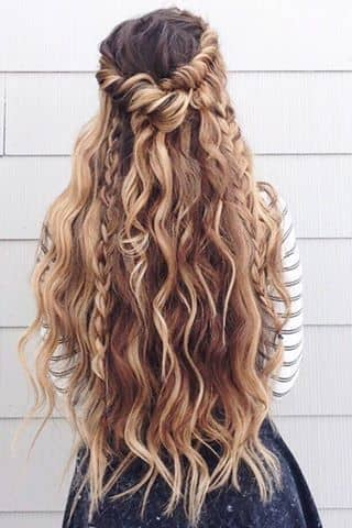 Half-up Twist With Curls