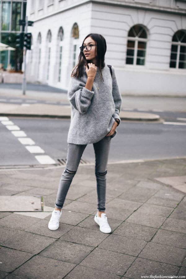 Comfy And Casual Grey Outfit