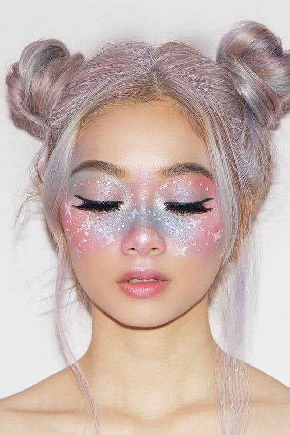 Iridescent Pastel Ombre Mask
