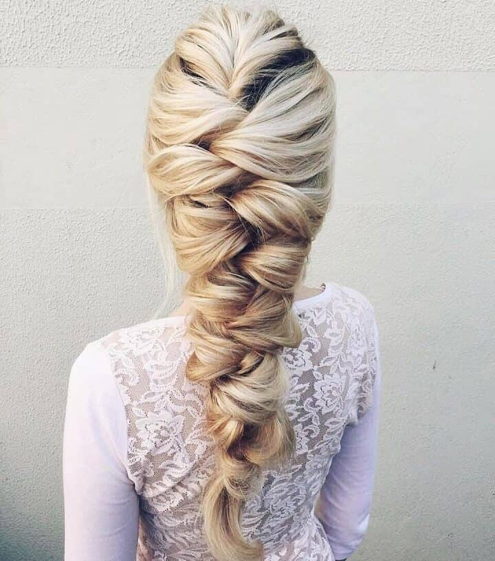 Voluminous, Loose French Wedding Braid Hairstyle