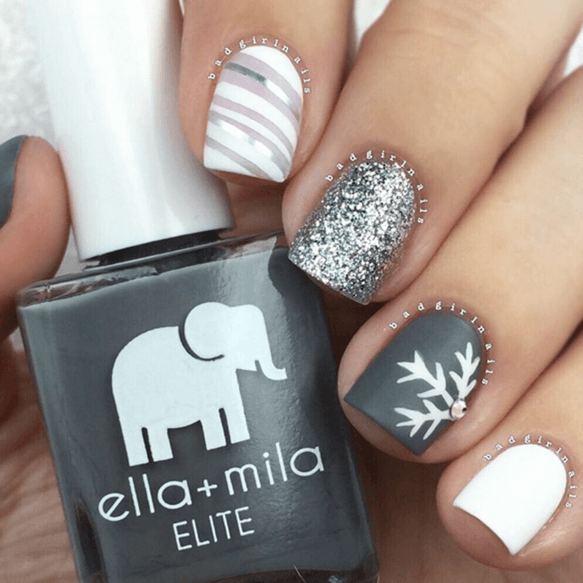 Silver, Gray And White Snowflake Theme