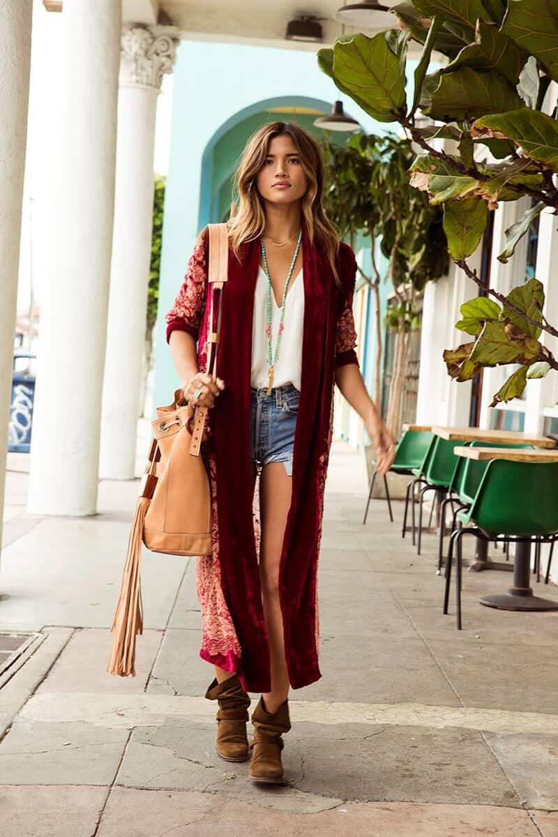 Luxurious Velour Kimono Outfit