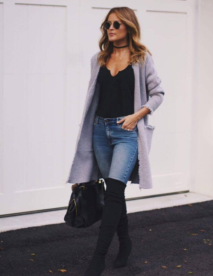 Wear Second Skin Suede Boots Over Jeans