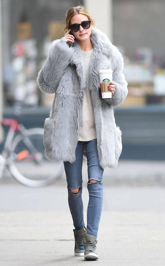 Ash Gray 3/4 Mid-length Coat