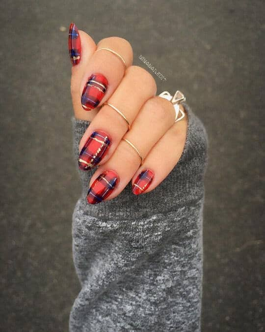 Red, Black And Gold Plaid