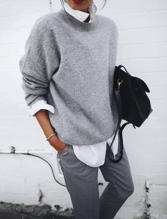 Dress Up Grey Sweaters