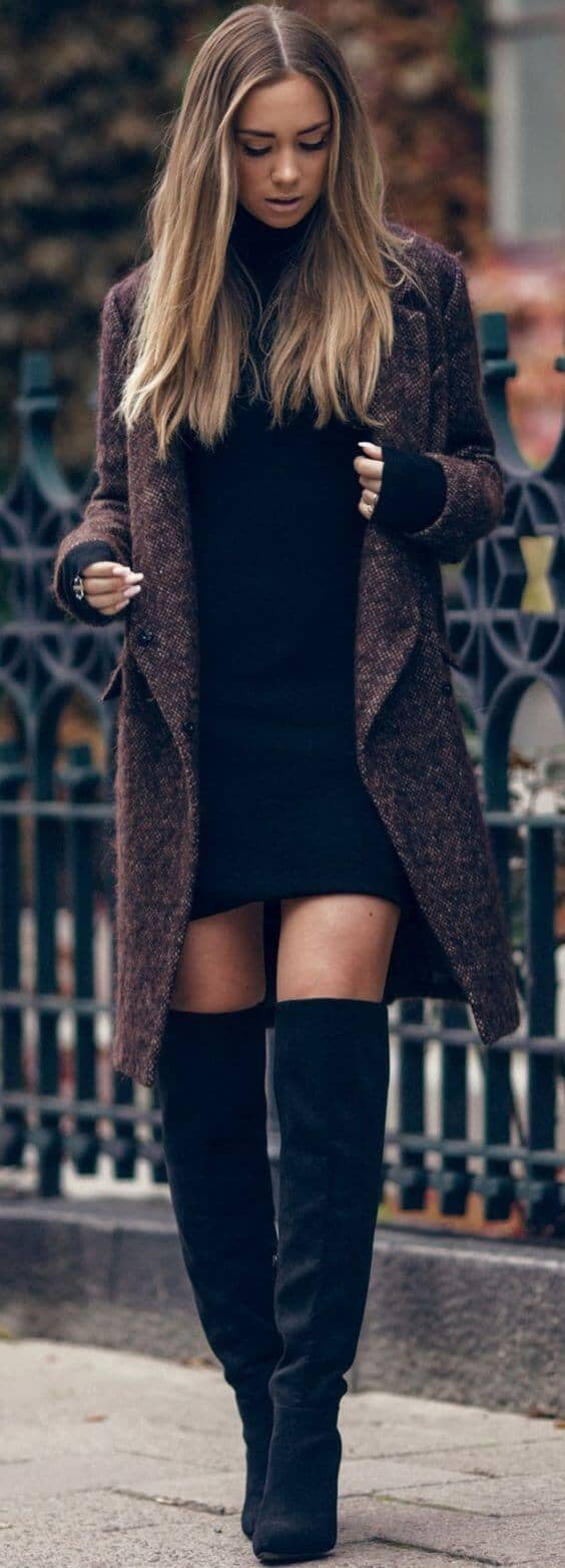 Layering with a Little Black Dress